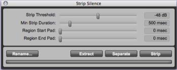 strip silence
