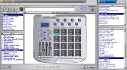 Avec le logiciel Enigma, le Trigger Finger de M-Audio ne dispose pas de l' éditeur le plus ergnomique qui soit...